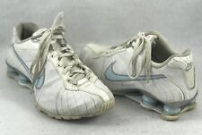 Nike Shox Medallion Womens Running Shoes 325211 Size 8 White Blue - 1232