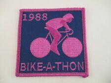 Vintage Patch PALM XIII 1988 Bike-a-thon Cycling Bicycle Purple