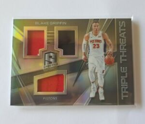 NBA Blake Griffin Panini Spectra Triple Threats Jersey Patch Card 78/99 🔥