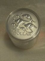 2020 $1 UNC Red Kangaroo 1oz Silver Frosted Coin In Capsule