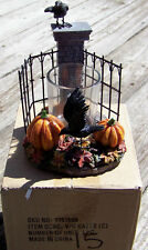 2015 Yankee Candle Halloween Spellbound HAUNTED GATES CROW Votive Holder! ~NIB~
