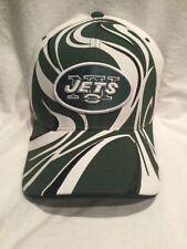 New York Jets  REEBOK Zebra  Green & White Flexfit Fitted Hat - ADULT S/M - NEW