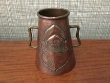 Art Nouveau copper vase rare antique copper vase