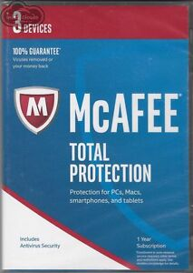 McAFEE Antivirus Total Protection 2017 (3 Devices) Retail Pack