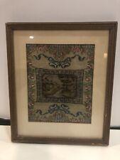 Antiker Bilderrahmen Mit Stickerei Biedermeier Rarität Rahmen Antik
