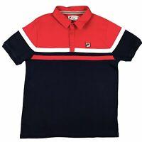 ***Fila White Line*** - Polo T Shirt Red MOD Weller Vintage Retro Tee UK