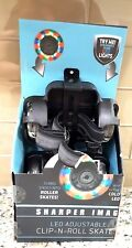 Led Adjustable Clip N Roll Skates ages 8+ Turns shoes into glow roller skate new