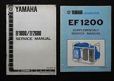 Genuine Yamaha Ef1200 Ef1800 Ef2600 Generator Service Repair Shop Manual Portabl