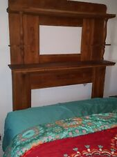 Antique Oak Fireplace Mantle with Shelves very ornate.
