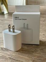 18w USB-C Power Adapter for Apple Fast Charging iPhone or iPad Charger - NIB