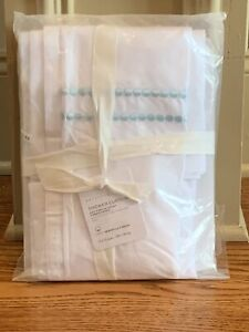 """Pottery Barn Sea Glass Pearl Embroidered Organic Shower Curtain 72"""""""