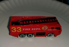 Vintage Unknown Maker Model Fire Department Vehicle Toy truck car #33 Dial 911