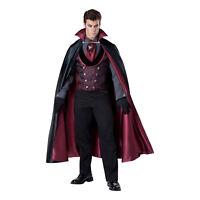 Mens Midnight Count Victorian Vampire Halloween Cosplay Costume Cape Vest Gloves