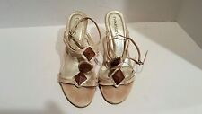 Matisse Womens Multi Color Leather Wedge Slingback Sandals Size 9.5
