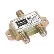 Steren 201-232 2-Way 2 GHz Satellite Splitter One Port DC Power Passing High Frq