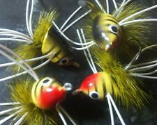 FROG PAINTED FISH STRIPED SLIDER BEE HARD # 8 FLY FISHING FLIES BASS PIKE