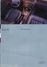 2168AU Audi A8 Ausstattung Prospekt 1994 3/94 deutsche Ausgabe