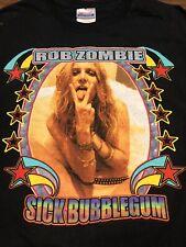 Rare Vintage Rob Zombie Sheri Moon Sick Bubblegum Tour Shirt ROCK THE MOTHER Rap