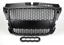 Audi A3 8P 09-12 RS Style Matte Black Mesh Front Hood Bumper Grill