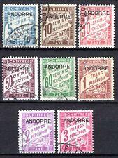 Andorre - 1931 - Timbres taxe de France surch - N° 1 à 8  - Oblitérés - used