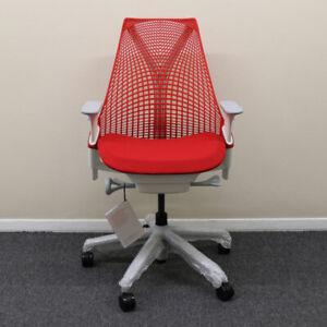 Herman Miller Sayl Chair, Red Back w/ Red Seat - Showroom Model