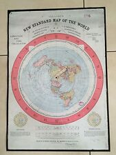 Gleason's New Standard Map of the World, +Aufkl. Erde Ist Flach, flat earth map
