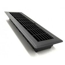 Charcoal Black Metal Floor Vent Register Cover Ducted Heating Cooling 100x400mm