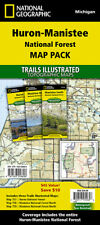 National Geographic MI Huron-Manistee National Forest TI Topo Map Pack Bundle
