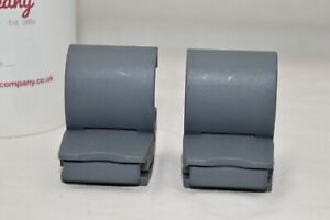 New CARLTON AIRTEC shell suitcase SIDE LATCH FASTENERS replacement PAIR - GREY
