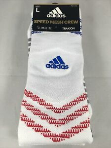 Adidas Speed Mesh Crew Socks - ClimaLite Traxion - Size L