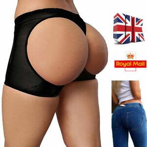 Black Bum Lifter Butt Enhancer Underwear Pants Shorts Shaper UK SELLER
