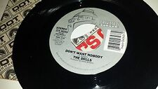 THE DELLS You Just Can't Walk Away Don't Want PRIVATE 04343 RARE MODERN SOUL 45