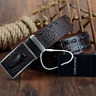 new fashion leather genuine cow belt men s hide buckle belts alligator design