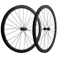 700C 38mm Carbon Road Disc Brake Wheelset Cyclocross Bicycle Wheels QR/THRU AXLE