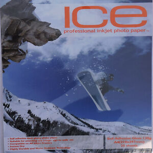 ICE A4 130gsm Self Adhesive Glossy Paper (100 & 150 Sheets)