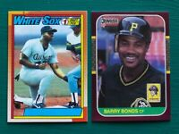 1990 Topps FRANK THOMAS & 1987 Donruss Opening Day BARRY BONDS Error REPRINTS