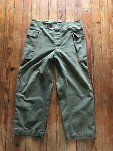 Vtg WWII US Army HBT Trousers Pants 13 Star Buttons 38 X 28 Act (Says 38x31)