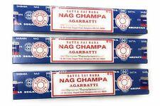 Satya Sai Baba Nag Champa Incense, 15 gram size. - 3 Boxes