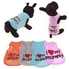 Puppy Cat Vest Dog Clothes Cotton T-Shirt Coat Pet Chihuahua Summer Apparel New