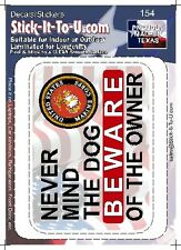 Never Mind The Dog  Beware Of The Owner – Decal Sticker Gun