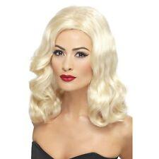 20s Blonde Luscious Long Waves Wig 1920s Ladies Womens Fancy Dress Accessory