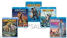 Archer TV Series Complete Season 1-5 (1 2 3 4 & 5) BRAND NEW 9-DISC BLU-RAY SET