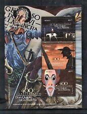 México Sc 2443 Souvenir Sheet Quixote Cervantes book 400 Anniversary 2005 Guanaj