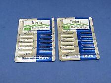 Dental Lab Diamond Burs Conical Trunk TF-13C FG Kit /2 Pack 20 Pcs TORINO