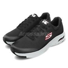 Skechers Arch Fit Black Red Grey Men Running Walking Shoes Sneakers 232040-BKRD