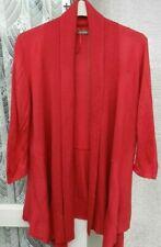 ( Ref 2455 ) Marks & Spencer - Size 16 - Fuchsia 3/4 Sleeve Waterfall Cardigan