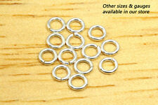 3.3mm 20g - 10pcs  935 Argentium Sterling Silver Open Jump Rings