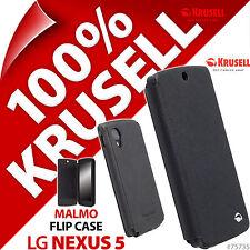 NUOVO Krusell Malmo Custodia Flip per LG Nexus 5 Nero Cover Portafoglio Folio + slot per schede
