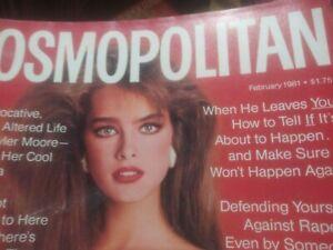 February 1981 Cosmopolitan magazine, Brooke Shields cover by Scavullo