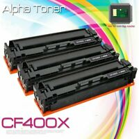3PK Black CF400X Toner Cartridge For HP 201X LaserJet Pro MFP M277dw M277 M252dw